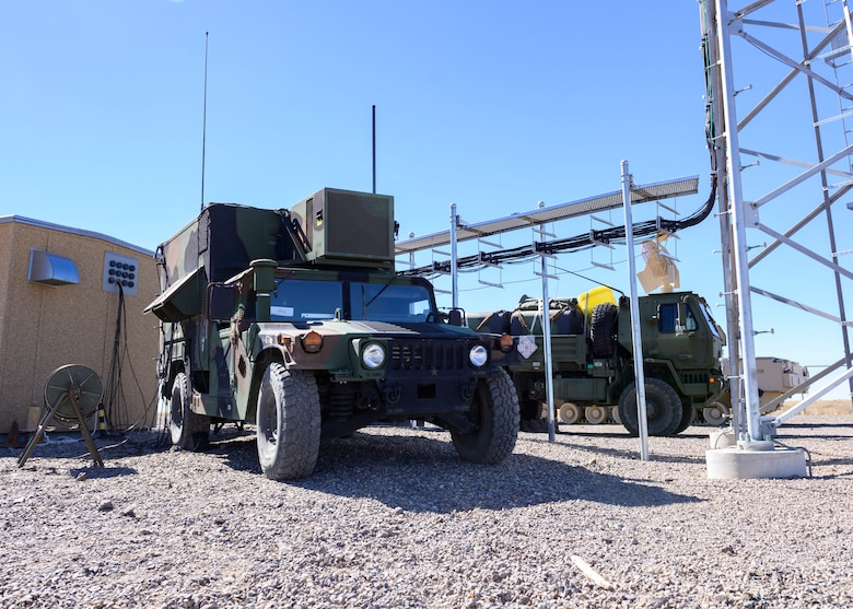 A TRC-214 air-to-ground communications vehicle sits at Grasmere Range; part of the Mountain Home Range Complex, Sept. 30, 2020. The 726th ACS use the TRC-214 to transport communications during live exercises. (U.S. Air Force photo by Staff Sgt. Tyrell Hall)