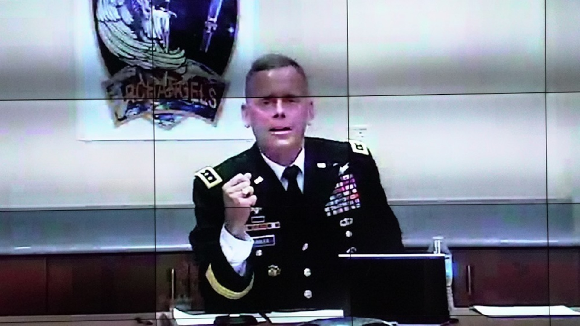 "Lt. Gen. Daniel L. Karbler, commanding general, U.S. Army Space and Missile Defense Command, virtually joins Army leaders for the 2020 Virtual Fires Conference entitled ""Fires: Achieving Overmatch in Large Scale Combat Operations,"" hosted at Fort Sill, Oklahoma, on Sept. 29."