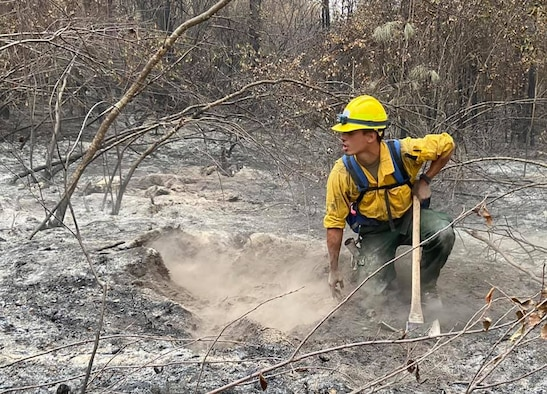 Airman searches for fire hotspots