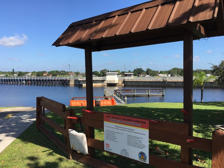New W.P. Franklin South Life Jacket Loaner Station