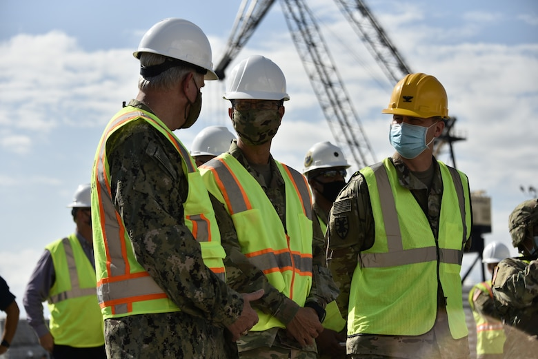 U.S. Army Forces Command, and U.S. Transportation Command leadership oversee a Joint Readiness Exercise.