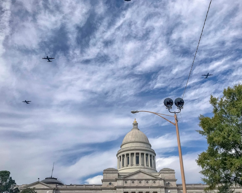 Planes fly over capitol bldg