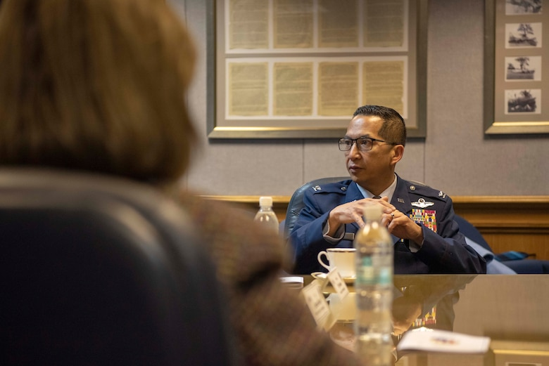 U.S. Air Force Colonel gives briefing