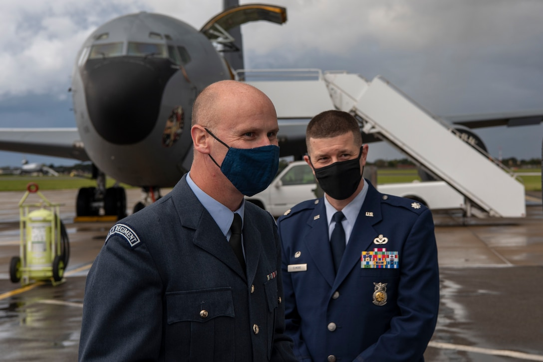 Royal Air Force and U.S. Air Force work together