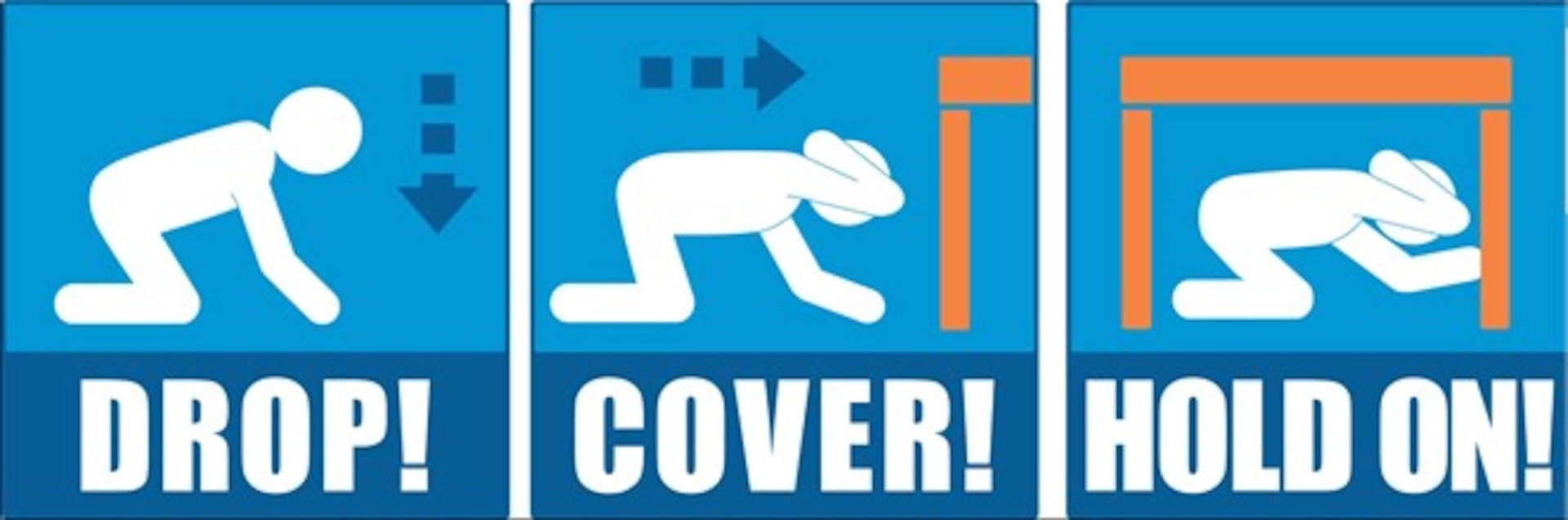 The Great ShakeOut drill: Drop, Cover, Hold On