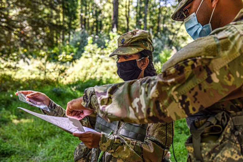 Soldiers assigned to the 250th BSB utilize Army Support Activity, Dix ranges in order to remain qualified in land navigation.