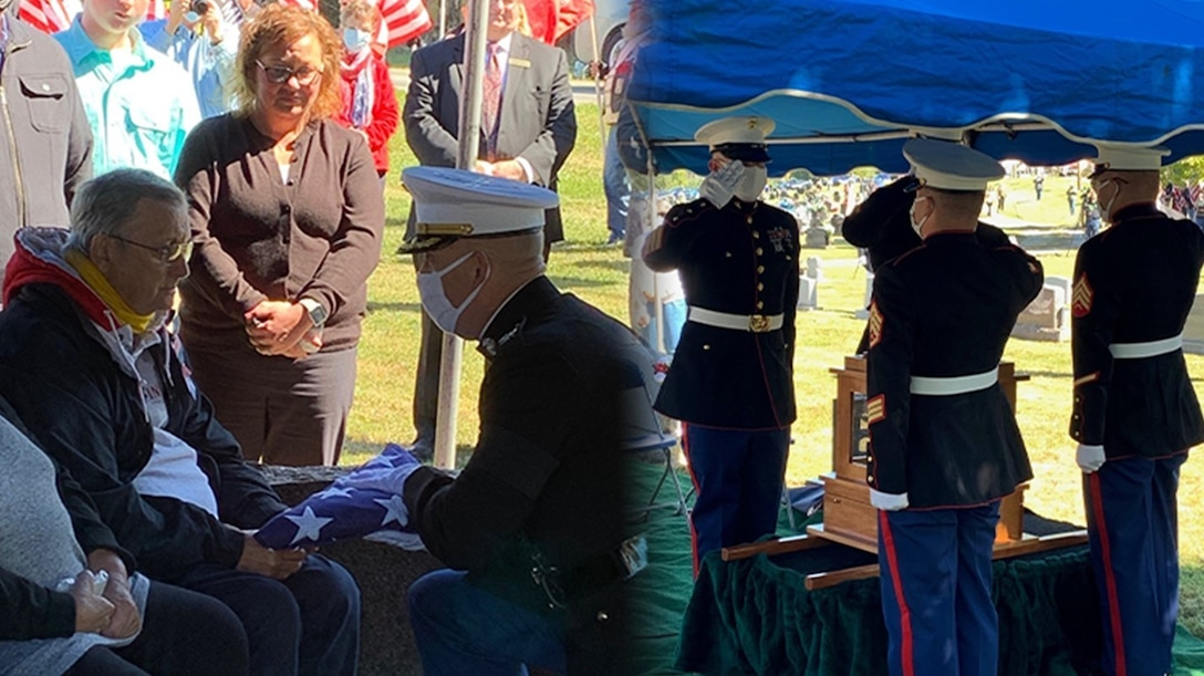 U.S. Marine Corps Col. Kirk Mullins served as the presenting officer at the funeral of private first class Louis Wiesehan, Jr., on Sept. 19.
