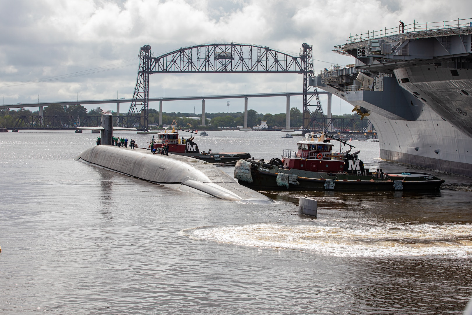USS Wyoming (SSBN 742) has returned to the fleet following completion of its Norfolk Naval Shipyard (NNSY) Engineered Refueling Overhaul (ERO) Oct. 9.  Photo by Danny De Angelis, NNSY Photographer.