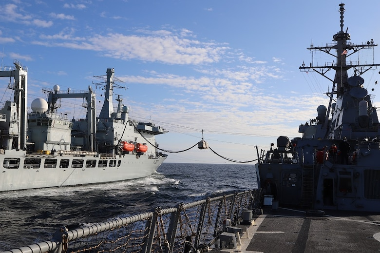 USS The Sullivans (DDG 68) in the North Sea during Exercise Joint Warrior 20-2