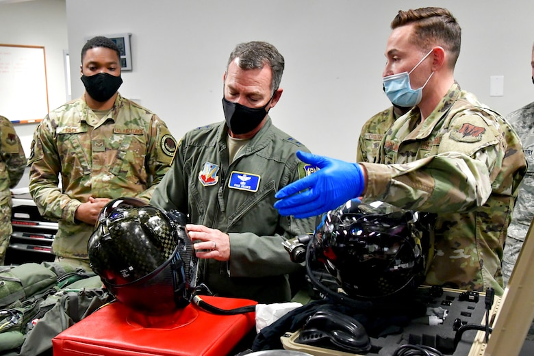 A photo of Maj. Gen. Chad Franks visit to Hill Air Force Base.