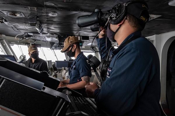 USS Ronald Reagan flight operations in the Indian Ocean.