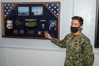 USS Constitution rededicated its Enlisted Dining Facility on Oct. 12, 2020 in honor of former crew member Mess Management Specialist 3rd Class Ronchester Santiago who gave the ultimate sacrifice during the terrorist attack on the guided-missile destroyer USS Cole (DDG  67).