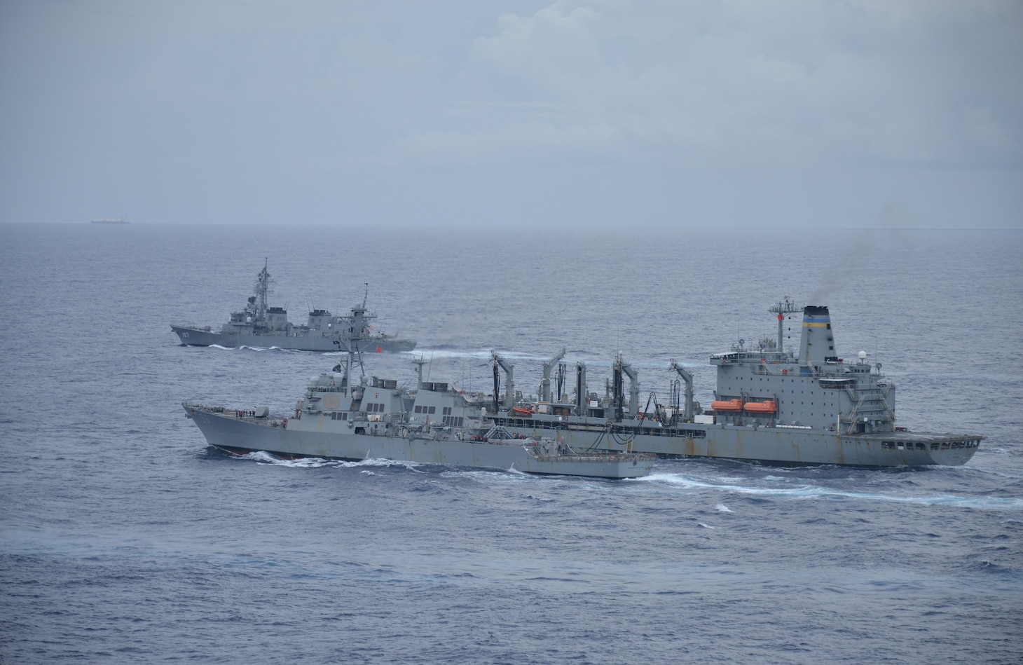 SOUTH CHINA SEA (Oct. 13, 2020) – Arleigh Burke-class guided-missile destroyer USS John S. McCain (DDG 56) joined Japan Maritime Self-Defense Force (JMSDF) Escort Flotilla 2 during integrated operations in the South China Sea beginning Oct. 12.