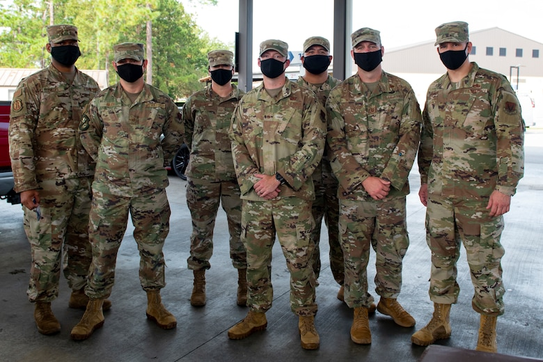 Moody's first sergeants pose for a photo.