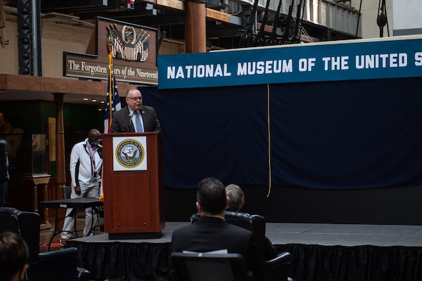 Secretary of the Navy announces the plans for the future National Museum of the United States Navy.