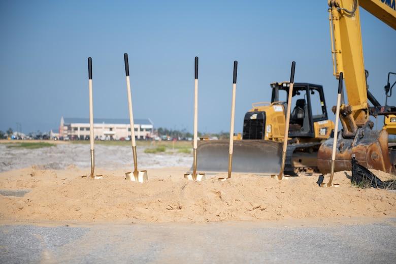 shovels in dirt