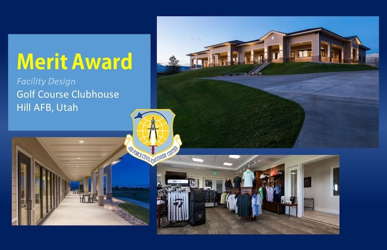 2020 Design Merit Award in the facility design category is the Golf Course Clubhouse at Hill AFB, Utah. (U.S. Air Force graphic)