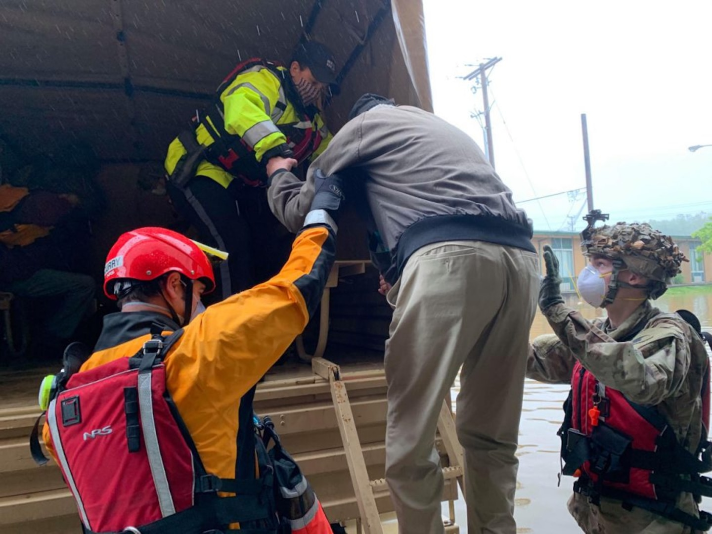 Red Dragons assist Roanoke first responders with flood evacuations