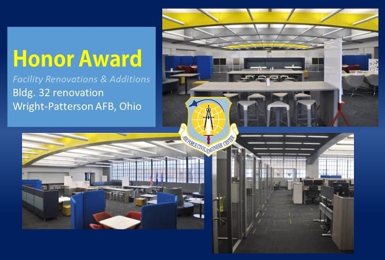 2020 Design Honor Award winner in the Facility Renovations and Additions category is Bldg. 32 renovation at Wright-Patterson AFB, Ohio.