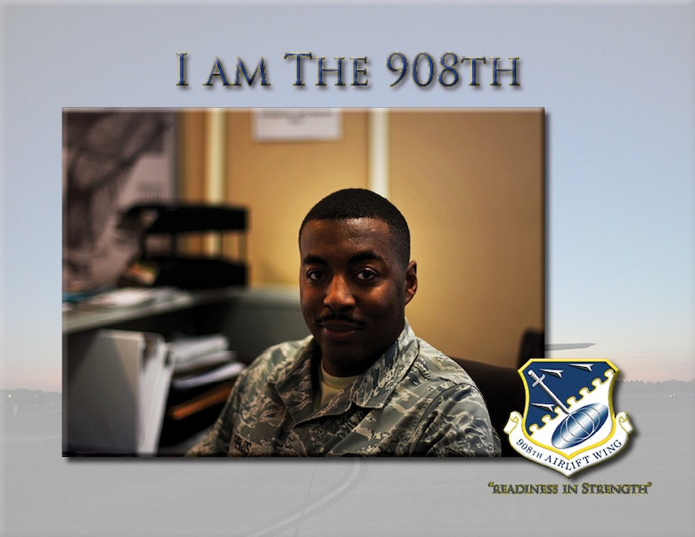 Staff Sgt. Louis Fields, the administrative support lead for the 908th Force Support Squadron, has been a member of the 908th for six years. Fields started his air force career with the 908th Logistics Readiness Squadron and moved to the FSS in 2018.