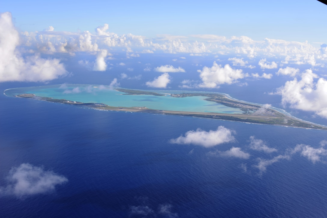 The view from an MC-130H Combat Talon II flying over Wake Island, July 20, 2015.
