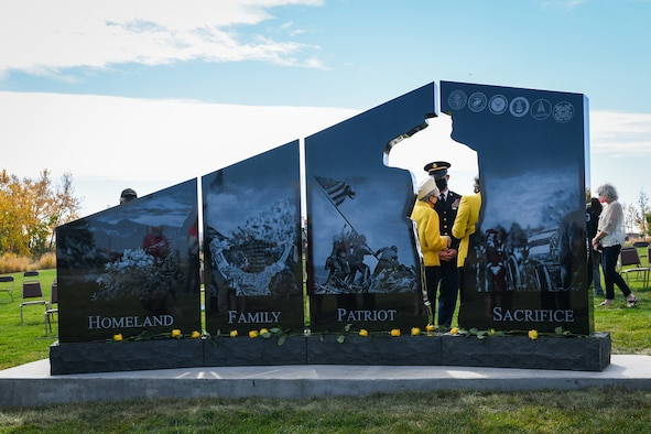 The Gold Star Families Memorial Monument was unveiled Oct. 14, 2020, at the Colorado Freedom Memorial in Aurora, Colo.