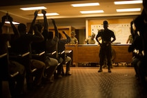 Recruit Processing Company - responsible for entry-level processing all recruits once they arrive on Parris Island as well as those recruits recommended for separation prior to completing training.
