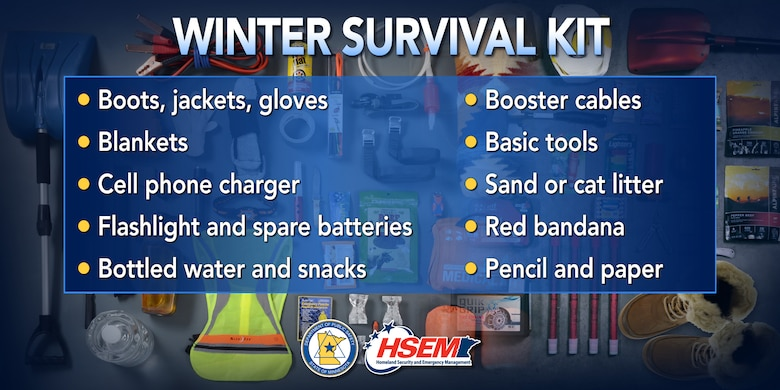 Helpful hints for an effective winter survival kit.
