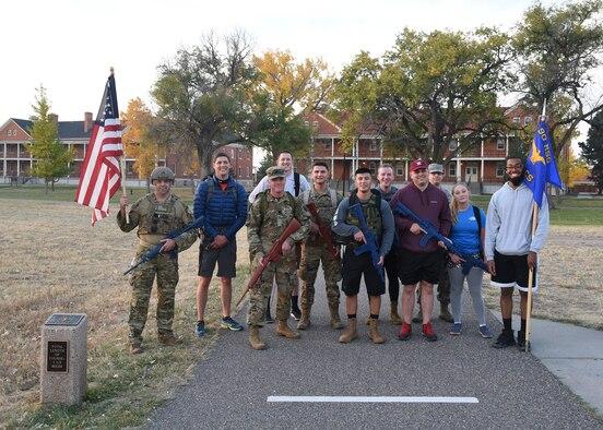 troops posing