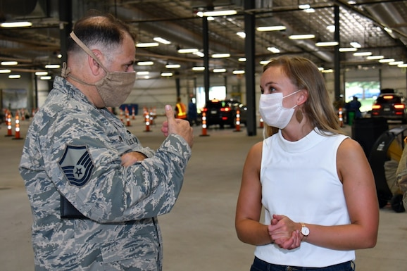 Wisconsin Air National Guard Master Sgt. Peter Sodini, chapel superintendent with the 128th Air Refueling Wing