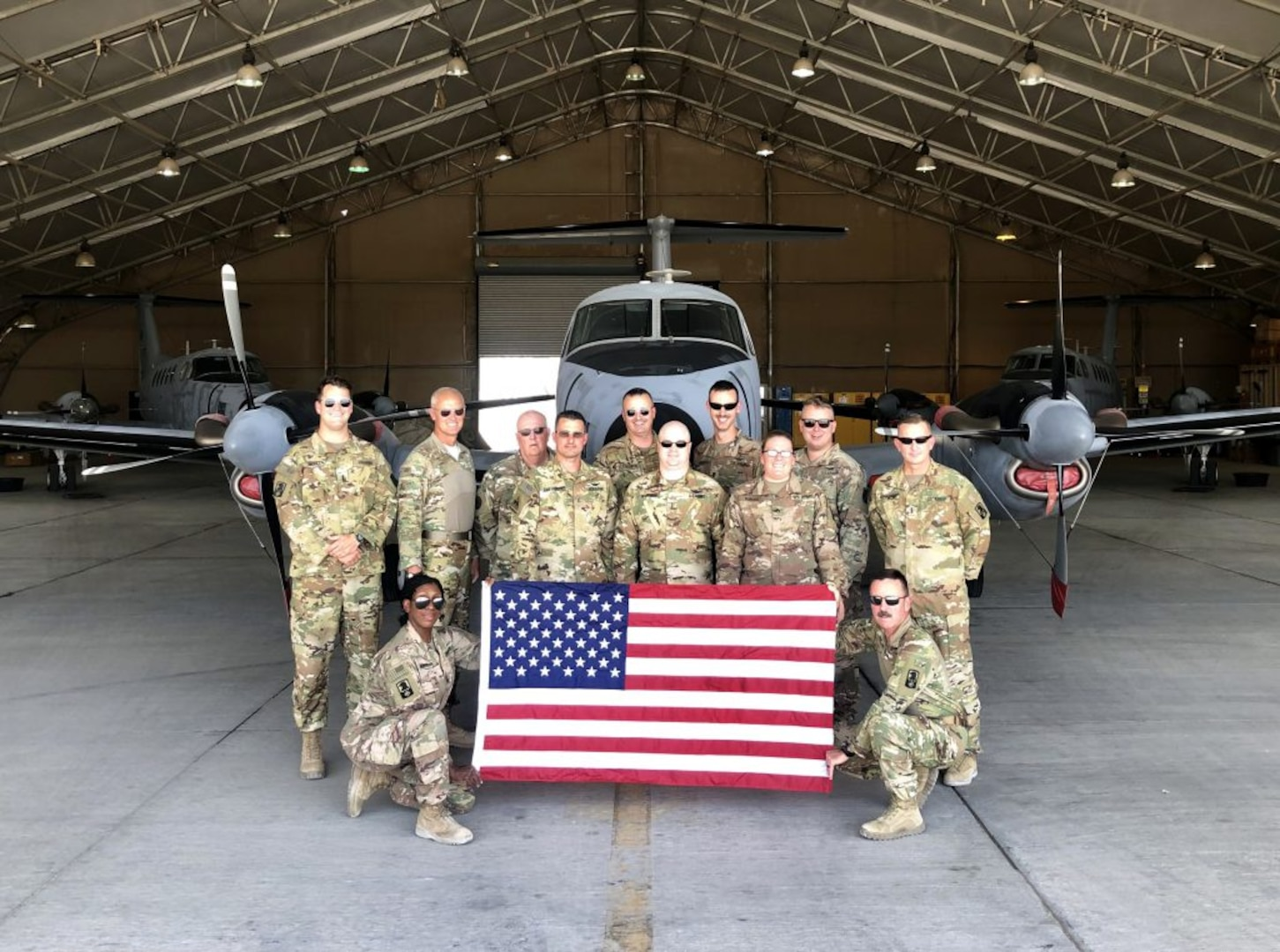 VNG fixed-wing aviators return to Virginia after successful deployment