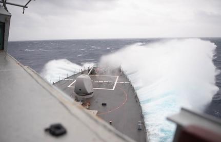 USS Barry transits the Taiwan Strait
