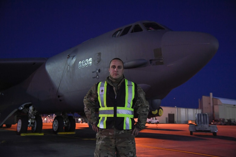 MSgt. Ryan Cordell is a part of the 5th Bomb Wing's Wing Inspection Team, which consists of performing inspections of the 5th Bomb Wing during exercises.