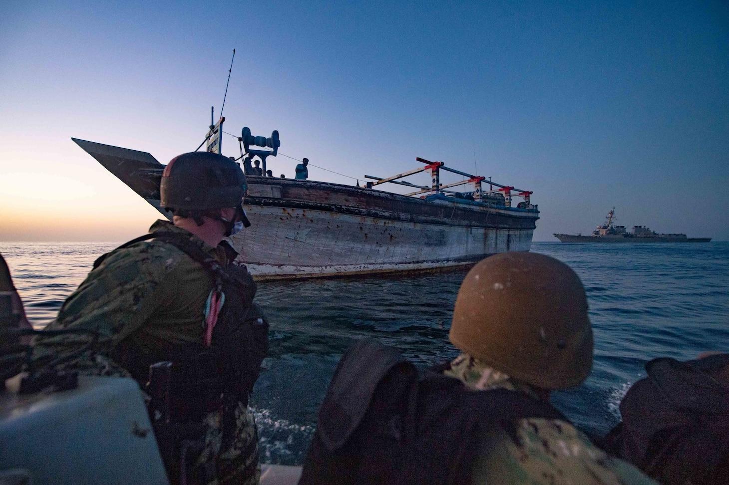 USS Winston S Churchill rescue at sea