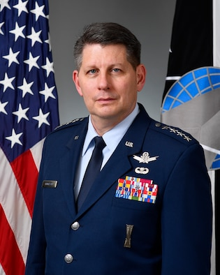 This is the official portrait of Gen. David Thompson.