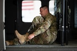 Sgt. Alex Woodsmall, a recruiter for the Indiana National Guard, starts his morning like every other soldier— with one small difference. In 2015, while working in a warehouse, Woodsmall ankle became crushed. Leading to his future amputation.