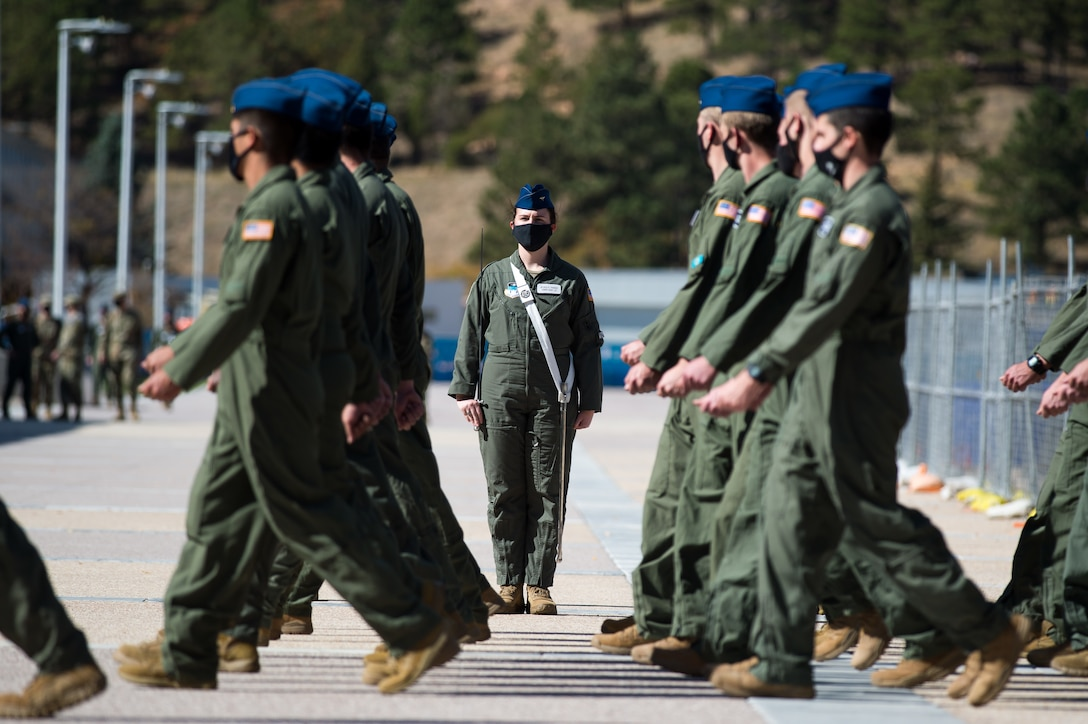 U.S. Air Force Academy Noon Meal Formation October 2020
