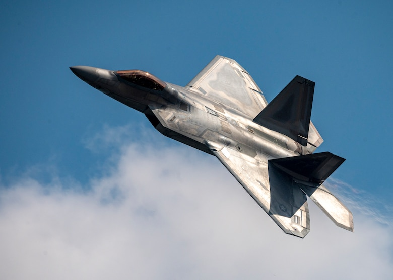 F-22 Raptor Demonstration Team performs at 2020 Wings Over Houston Airshow