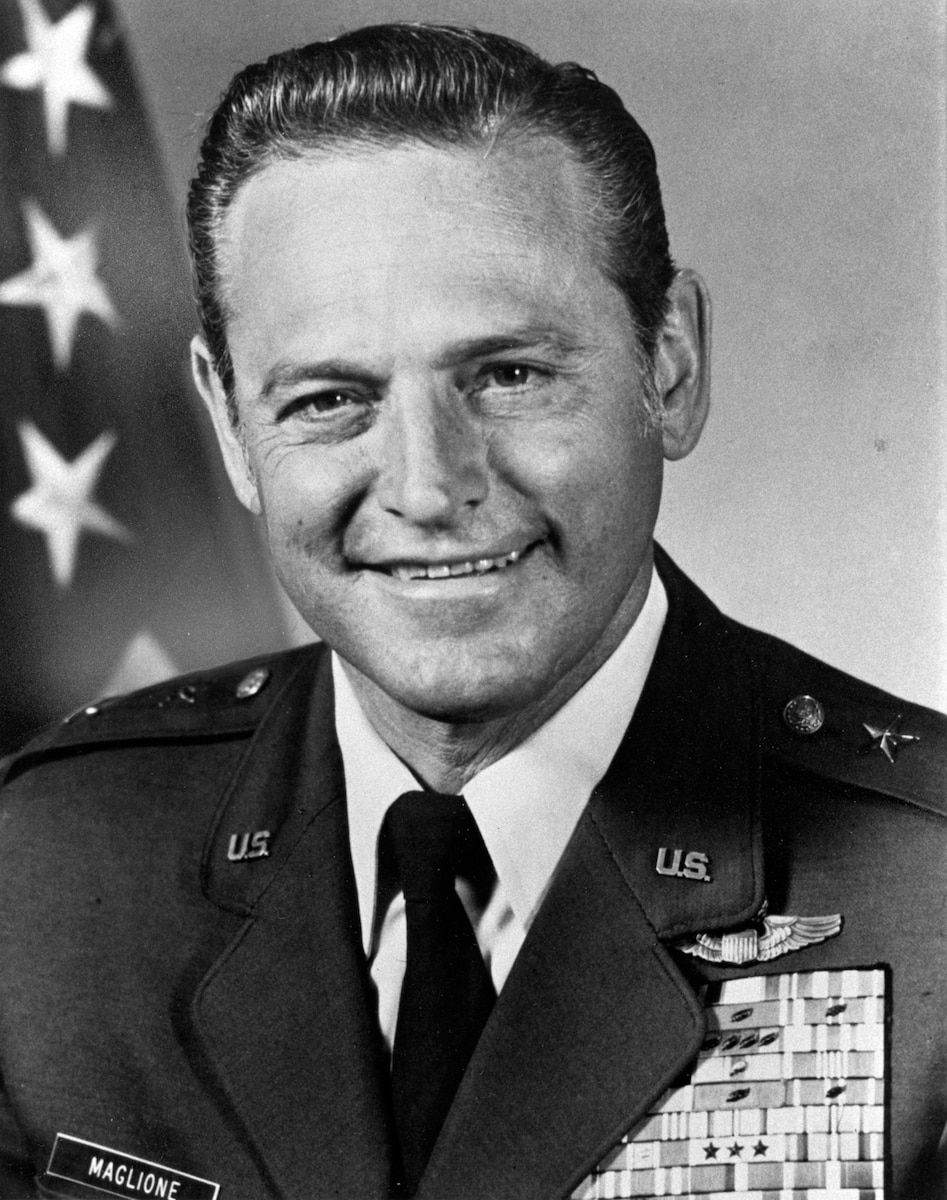 This is the official photo of Maj Gen Ralph J. Maglione.