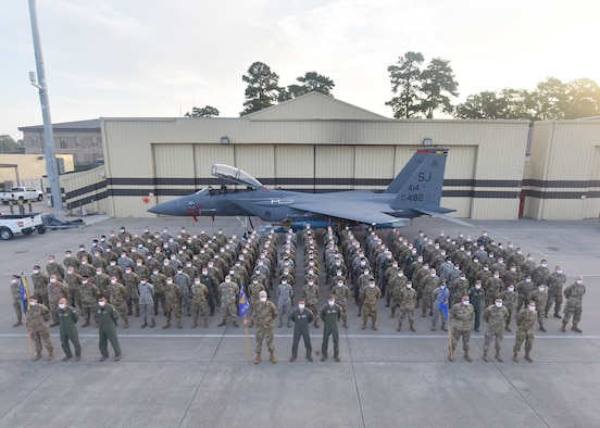 The 414th Fighter Group, a geographically separated unit of the 944th Fighter Wing at Luke Air Force Base, Arizona, hit their 10-year anniversary this summer since their reactivation at Seymour Johnson Air Force Base, North Carolina, in July of 2010.