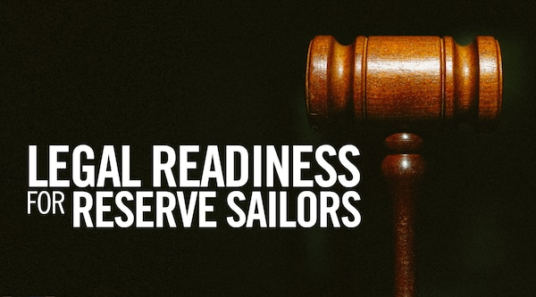 Legal Readiness for Reserve Sailors graphic.