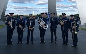 Brass in Blue at the Air Force Memorial