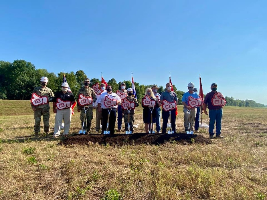MRC Commissioners and local partners attend a groundbreaking ceremony