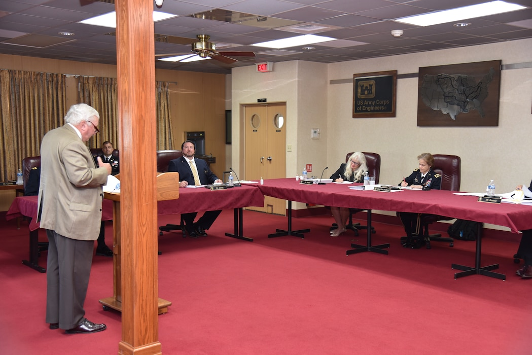 MRC Commissioners listen to testimony in Caruthersville, MO.
