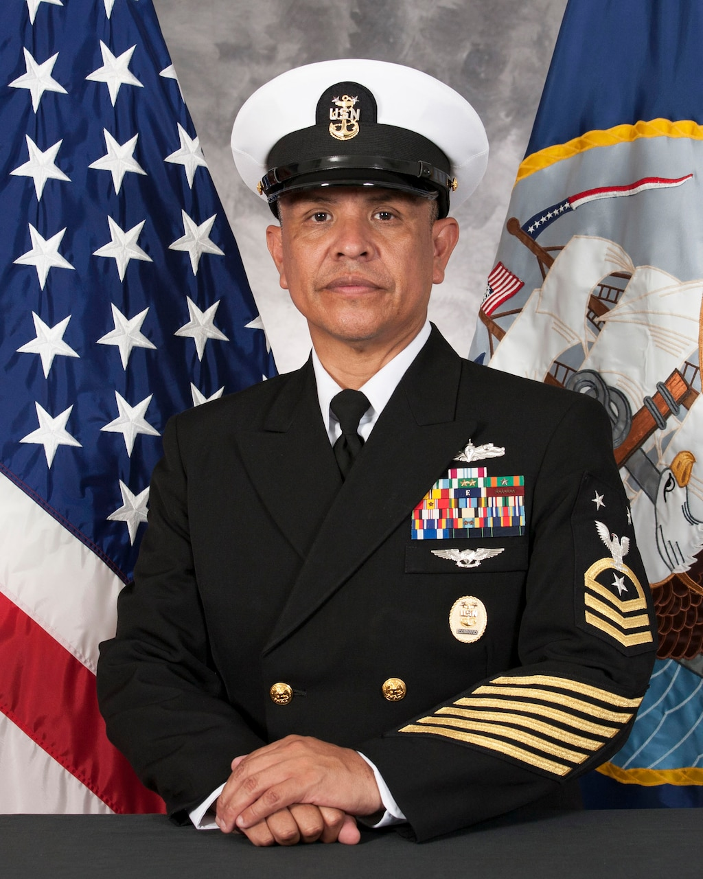 Official biography photo of Command Master Chief Francisco Diego, command master chief, USS John S. McCain (DDG 56).