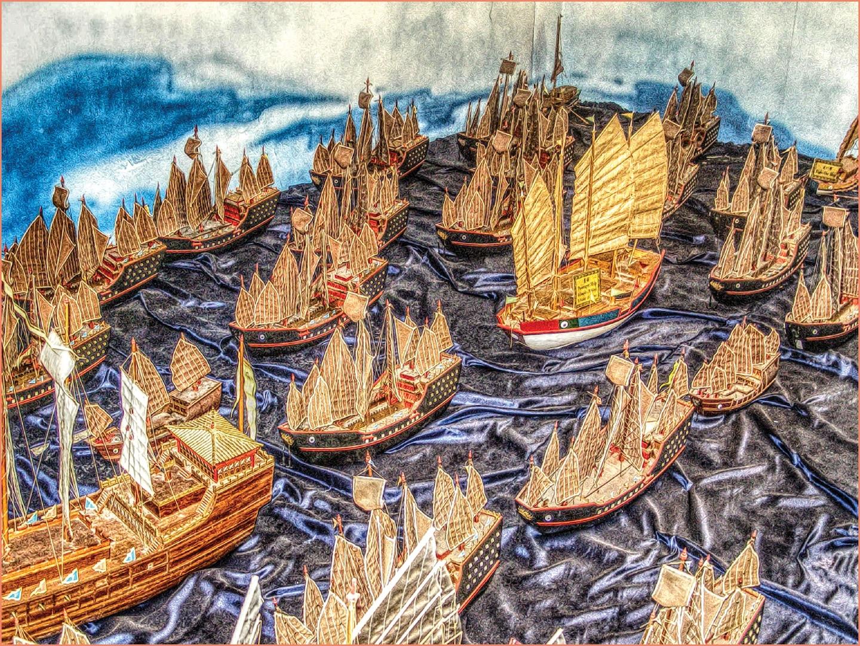 Zheng He's fleet (Bruno Zaffani via Flickr)