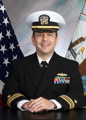 Official portrait of Lieutenant Commander Richard Excamilla