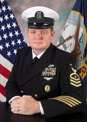 Official portrait of Command Master Chief (SW/AW) Stephen J. Bronder