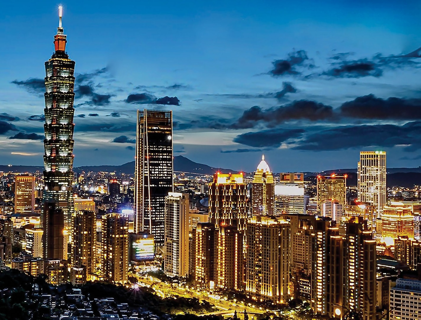 Taipei skyline view in 2020. The global pandemic is likely to harden Beijing's positions on matters of party legitimacy and national sovereignty, such as over Taiwan. (Credit: 毛貓大少爺 from Taipei, Taiwan)