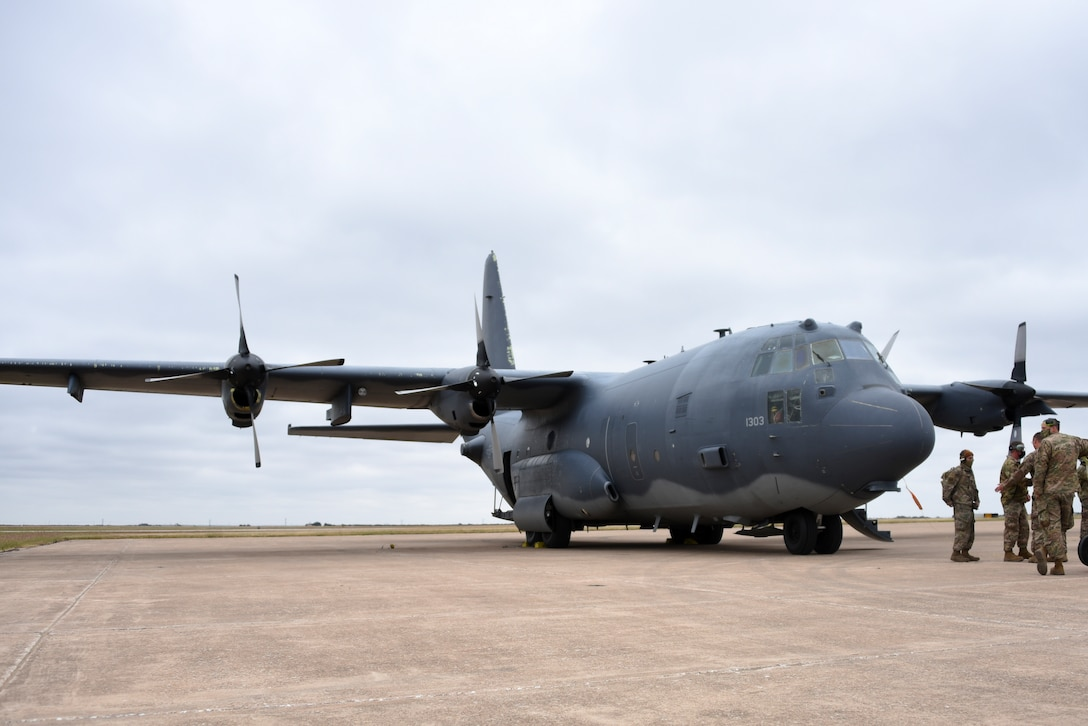 A new aircraft arrived here Oct. 19, 2020, that will provide some much-needed firepower and an advanced training platform for armament and crew chief Airmen in Training in the near future. The AC-130W Stinger II from Cannon AFB, New Mexico, will serve as a new ground instructional trainer for ammo and armament students in the 363rd TRS as well as crew chief students in the 362nd TRS.